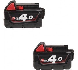 Set de 2 accus Milwaukee 18V, 4 Ah