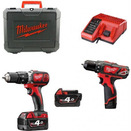 Set perceuse visseuse MILWAUKEE  M18 + M12