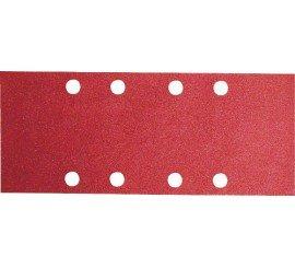 10 Feuilles abrasives 93x230 mm 8 trous grain 100 BOSCH
