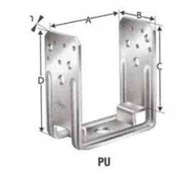 Pieds de poteaux fixes types PU...B