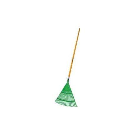Balai à feuilles synthétique manche fibre verre