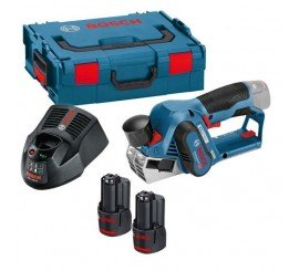 Set rabot GHO + affleureuse GKF  Bosch 12 V