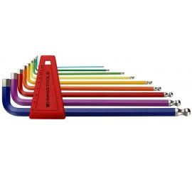 Jeu de clés mâles à six pans PB212LH-10RB colorée long
