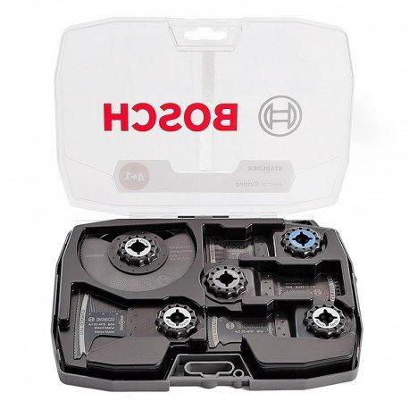 Set de 5 lames Bosch Pour outils oscillants Makita, Bosch, Fein et Starlock