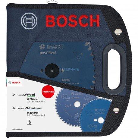 Set lames scie circulaire Bosch 216 mm