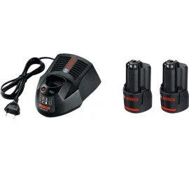 Pack BOSCH 2 accus 10.8 V 2.5 Ah + chargeur